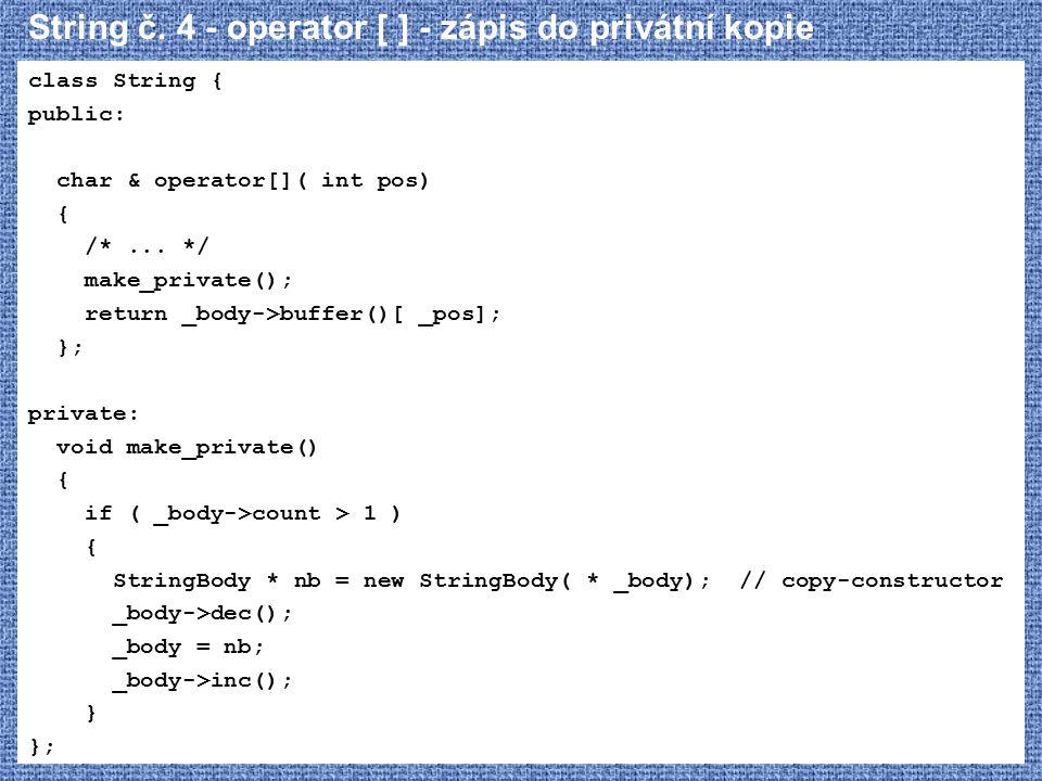String č. 4 - operator [ ] - zápis do privátní kopie